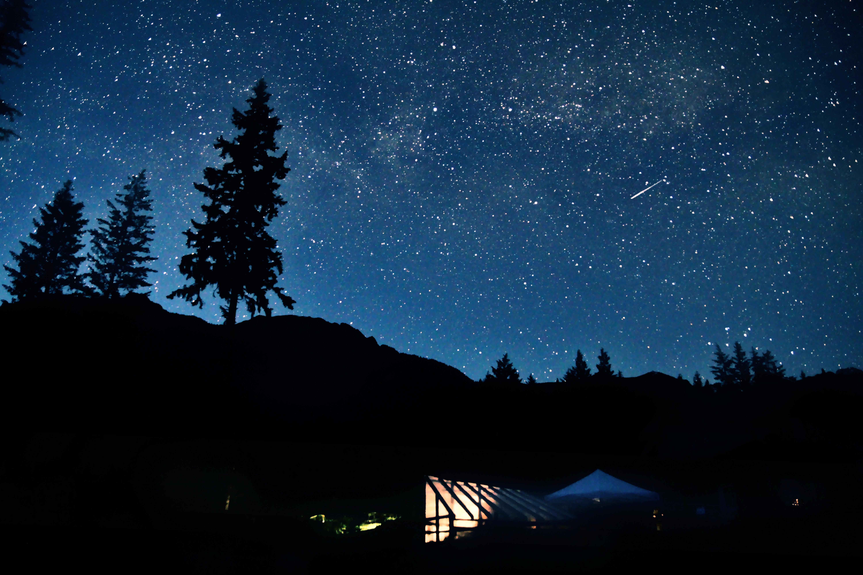 Zelten, Himmel, Sternenhimmel, Sterne, Nacht, Natur, Sommer