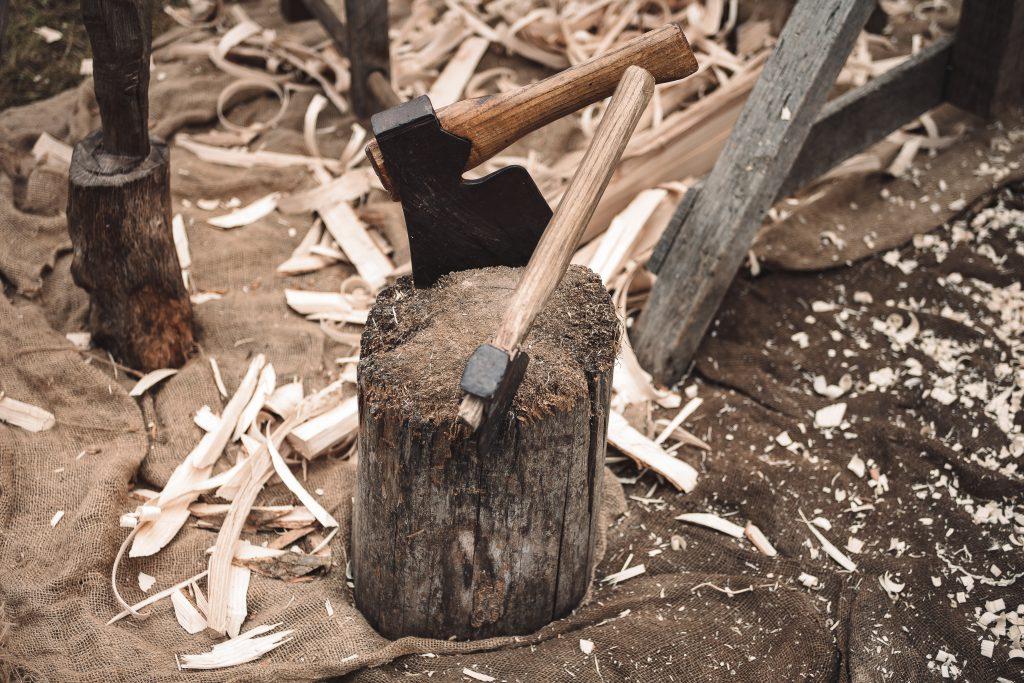 Axt, Holz