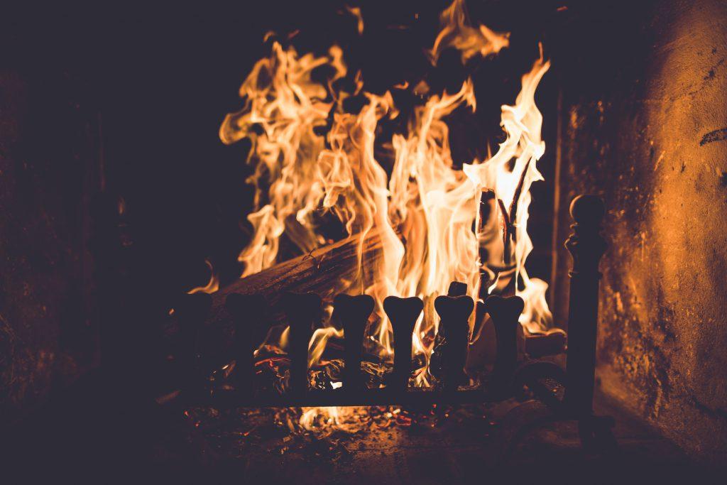 Kamin, Kaminofen, Feuer