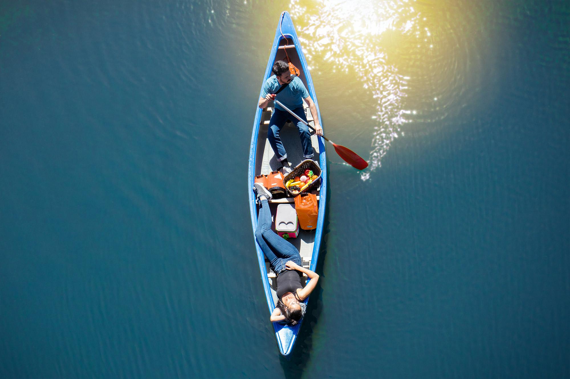 Packsäcke - ideal für die Bootstour